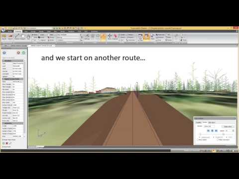 Topocad 15 demonstration using the road line manager