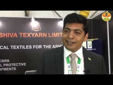 Shiva Texyarn displays its latest range of CBRN suits at DefExpo 2020