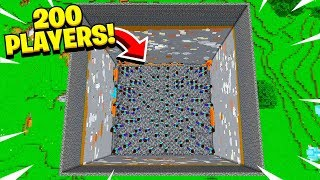 I *FORCED* 200 Minecraft Players To DIG Through The WORLD w/ 09sharkboy