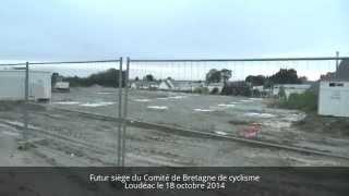 preview picture of video 'Futur siège du Comité de Bretagne de Cyclisme à Loudéac au 18 octobre 2014'