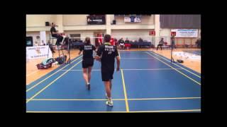 preview picture of video 'Puchar Polski w badmintonie 2014, SKB Suwałki Mistrzem Polski'