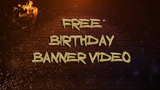 Birthday banner background loop | Free happy birthday wishes video greetings download | #birthday