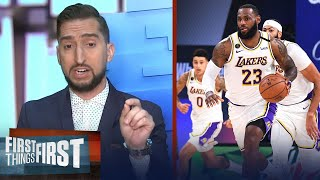Nick Wright reacts to Nuggets win vs Lakers in Game 3, Lakers to win in 5   NBA   FIRST THINGS FIRST