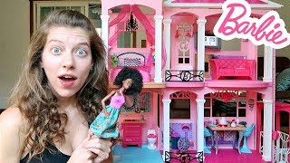 Barbie Dream House Doll House Tour 2017 Unboxing Toy Review
