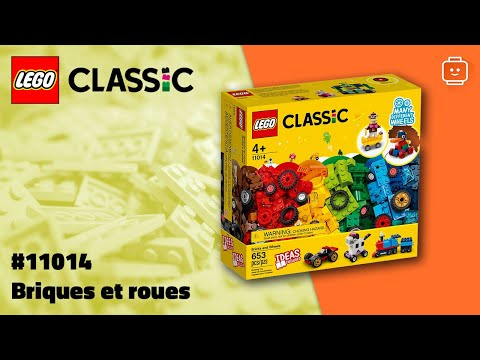 Vidéo LEGO Classic 11014 : Briques et roues