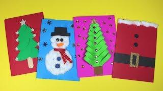 DIY Christmas Card Ideas   Christmas Craft For Kids