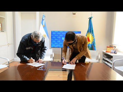 Firma de convenio de responsabilidad social con UOCRA y concesionarias viales