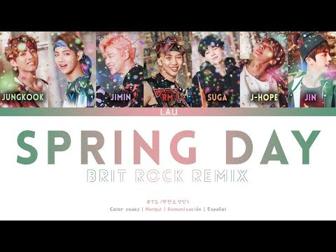 BTS (방탄소년단)  'Spring Day' (Brit Rock Remix For 가요대축제 - FESTA 2018) (Hang | Rom | Esp) (COLOR CODED)