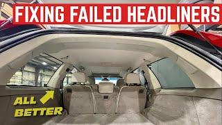 HEADLINER DAY! We Fixed My CHEAP Honda And FREE Volvo Headliners