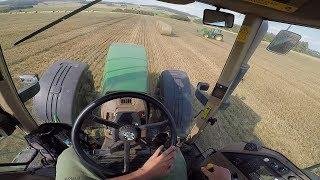 GoPro/Driver view - JOHN DEERE 8210 powerschift + Pronar T026M - ORIGINAL SOUND