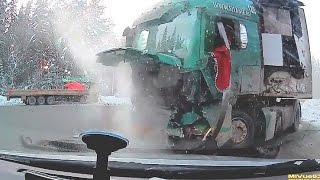 Tragic  truck accident in Russia  / Truck crash compilation