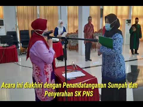 Penyerahan SK dan Pengambilan Sumpah PNS