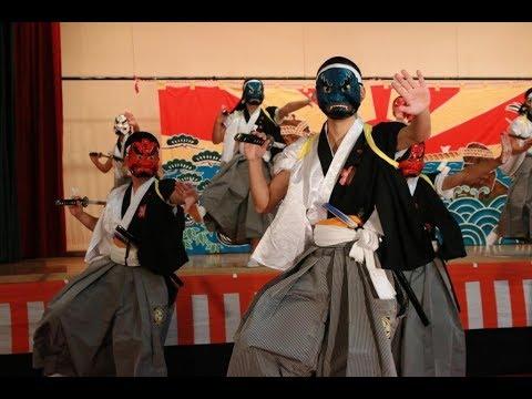 九戸中学校「江刺家神楽 三宝荒神」@2019九戸の山伏神楽祭典