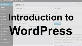 WordPress Tutorial 1: Introduction