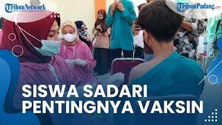 Siswa SMKN 2 Pariaman Peduli Program Pemerintah untuk Wajibkan Vaksin, Berharap PTM Terus Dilakukan