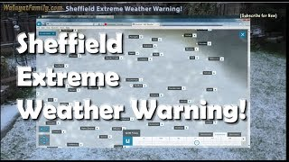 """Beast From the East"" Sheffield UK Extreme Snow Winter Weather Warning 2018!"
