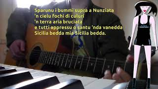 Franco Battiato - Veni l'autunnu KARAOKE GUITAR (A key) REQUEST