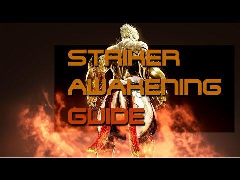 Black Desert Online - Awakened Striker PvE Combo - смотреть