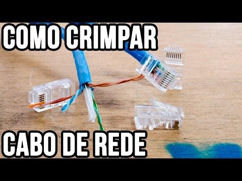 Como crimpar cabo de rede - Versão completa