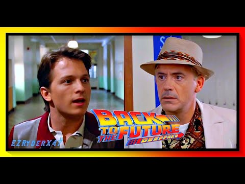 Deepfake Back To The Future with Tom Holland and Robert Downey Jr.