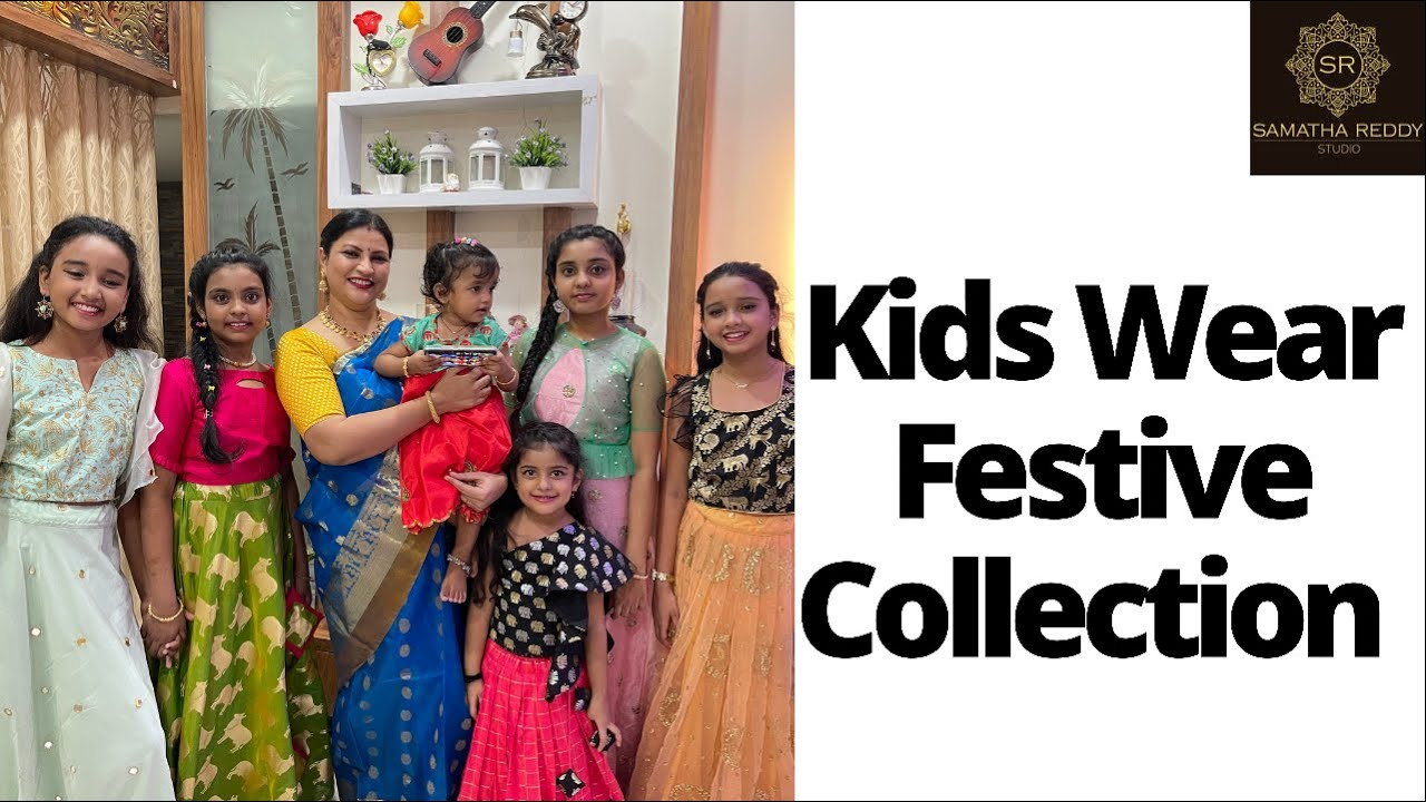 """<p style=""""color: red"""">Video : </p>Kids Wear Festive Collection   Samatha Reddy Studio 2021-08-03"""