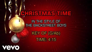 Backstreet Boys - Christmas Time (Karaoke)