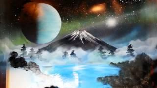 宇宙 富士山 桜