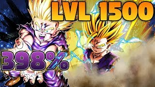 398% LVL 1500 SUPER SAIYAN 2 GOHAN SHOWCASE | Dragon Ball Legends