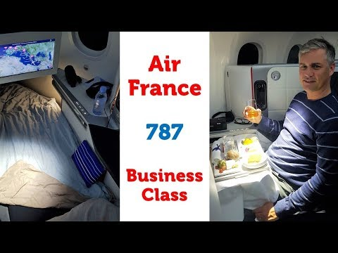 Air France Business Class on the Boeing 787