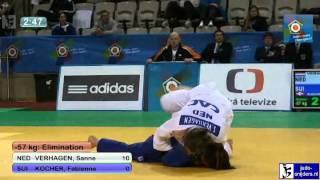 Judo 2012 European Championship U23 Prague: Verhagen (NED) - Kocher (SUI) [-57kg]