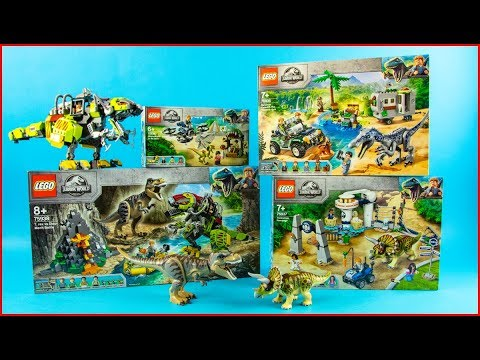 ALL LEGO JURASSIC WORLD COMPILATION 2019 Unboxing Speed Build