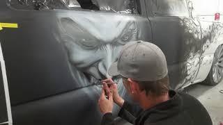 Joker Airbrush Show Truck Speed Painting