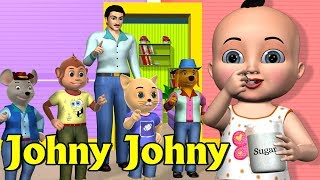 Johny Johny Yes Papa Nursery Rhyme 1 | Kids' Songs | 3D Animation Rhymes For Children
