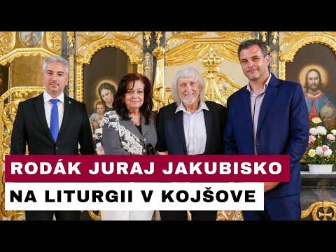 Režisér Perinbaby na liturgii v Kojšove