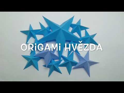 Origami hvězdy. Hvězda z papíru DIY.