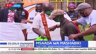 Msaada wa mashabiki : Mashabiki wa Gor Mahia watoa msaada wa chakula kwa wenye changamoto