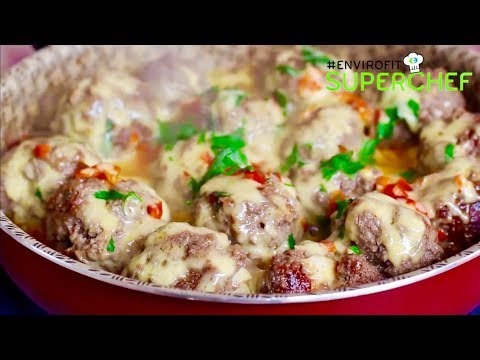 How to make Egg stuffed cheesy meatballs | Chef Ali Mandhry