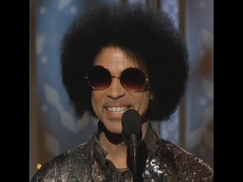 Prince (Dead 4-21-16 age 57) at the Golden Globe Awards 2015
