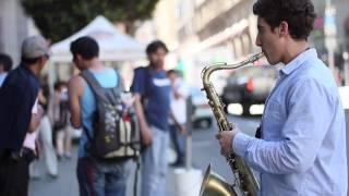 SF Saxophone Street Musician. Justin Ward.