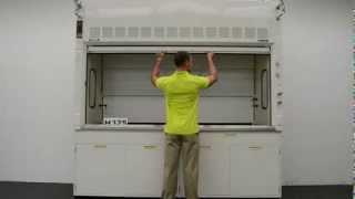 8′ Fisher Hamilton Safeaire Laboratory Fume Hood w/ Base Cabinets