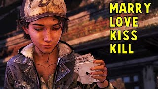 Clem Seduced by Violet or Louis During The Card Game -All Choices- Walking Dead The Final Season Ep2