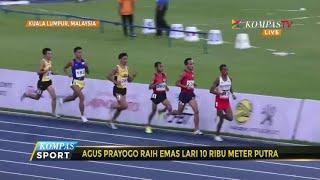 Agus Prayogo Raih Emas Di Nomor Lari 10.000 Meter Putra