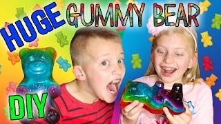 YUMMY GUMMY FOODS! Making the World's Largest Gummy Bear, Gummy Worms & Gummy Fish