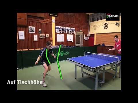 Vorhand Topspin Technik - Plastikball