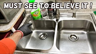 HOW TO CLEAN STAINLESS STEEL KITCHEN SINK LIKE A PRO. PRODUCT REVIEW