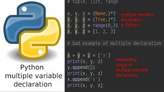 The right way to declare multiple variables in Python