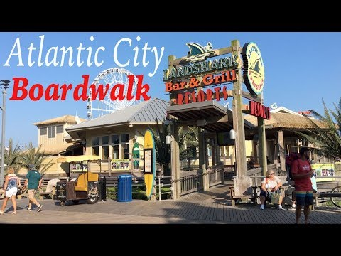 Atlantic City Boardwalk July 2018, featuring Ocean views, shops & restaurants since 1870.