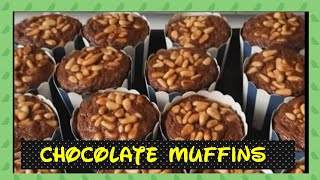 How To Bake CHOCOLATE  BANANA  MUFFIN With Fine Nuts