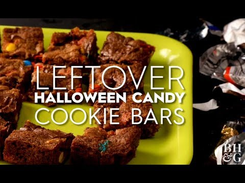 Leftover Halloween Candy Cookie Bars | Fun With Food | Better Homes & Gardens