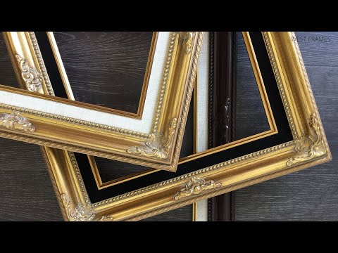 West Frames Estelle Antique Gold Leaf Ornate Baroque Picture Frames